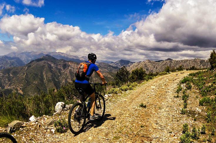 Mountain bike in Granada area, Andalucía southern Spain