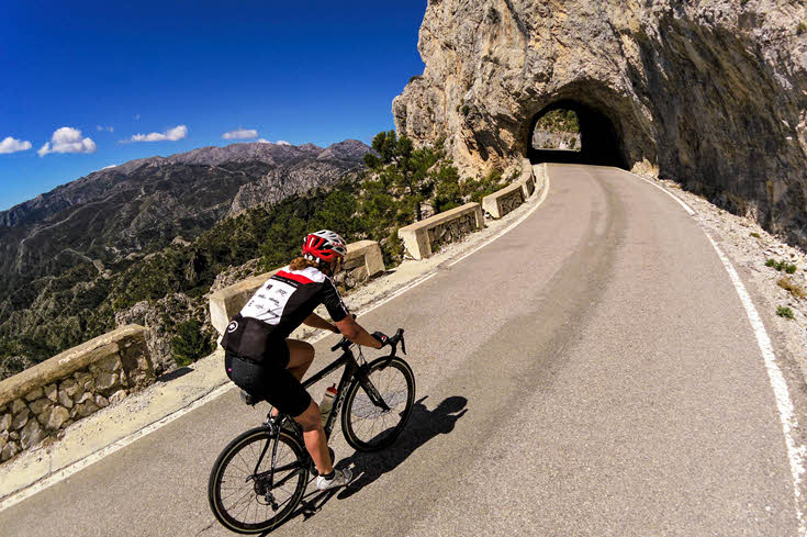Road cycling Carretera de la cabra south Spain