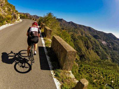 Road bike in Almuñécar, Costa Tropical south of Spain