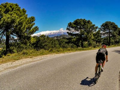 Road cycling in Granada area, Andalucía southern Spain