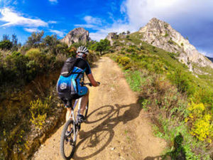 Mountain biking in Granada area, Andalucía southern Spain